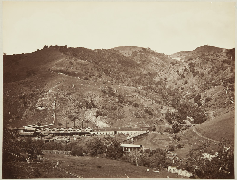 Watkins #127 - Smelting Works, Old Road, and Mine, New Almaden