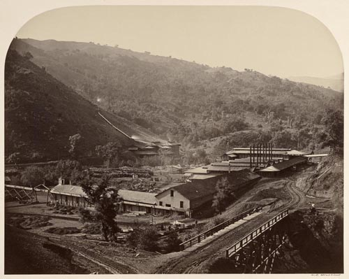 #130 - General View of the Smelting Works, New Almaden