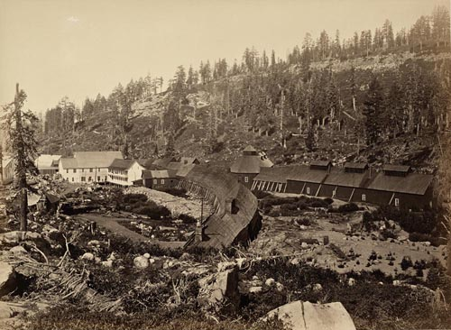 #1120 - Summit Station with West End of Tunnel, Central Pacifc Railroad, Placer County