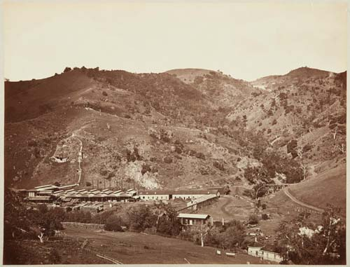 #127 - Smelting Works, Old Road, and Mine, New Almaden