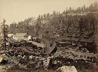1120 - Summit Station with West End of Tunnel, Central Pacifc Railroad, Placer County