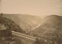 #1114 - Canyon of the American River, from Cape Horn, Central Pacifc Railroad, Placer County