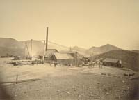 418 - Laying Foundation, Consolidated Virginia Mining Company, Storey County, Nevada