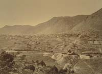 1101 - Panorama of Virginia City, View from the Combination Shaft, Storey County, Nevada (A)