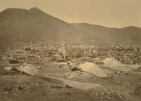 1102 - Panorama of Virginia City, View from the Combination Shaft, Storey County, Nevada (B)