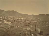 1103 - Panorama of Virginia City, View from the Combination Shaft, Storey County, Nevada (C)