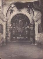 1330 - Interior, Mission San Xavier del Bac, near Tucson, Arizona Territory