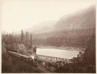 434 - Ruins of High Bridge, Middle Block House, Columbia River, Washington Territory