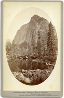 Unnumbered - Outline of the Cathedral Rocks, Yosemite.