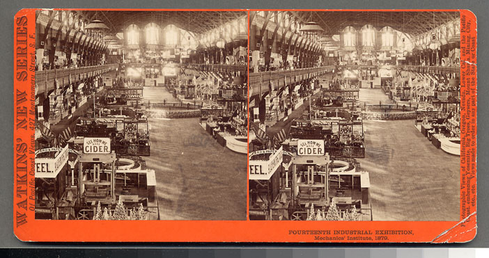 Watkins Unnumbered View - Fourteenth Industrial Exhibition, Mechanics' Institute, 1879