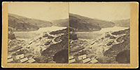 901 - View of Dam & Camp looking West up Pilarcitos Spring Valley Water Works, California