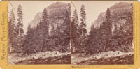 The Sentinel, from the Yosemite Falls, Yosemite Valley, Mariposa County, Cal.