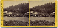 #1216 - Panorama of Oregon City and the Willamette Falls #3