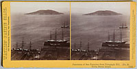 1345 - Panorama of San Francisco from Telegraph Hill (No. 8). Yerba Buena Island.