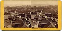 1350 - Panorama of San Francisco from Telegraph Hill (No. 13). Marine Hospital, Shot Tower.