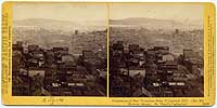 1352 - Panorama of San Francisco from Telegraph Hill (No. 15). Kearny Street, St. Mary's Cathedral.