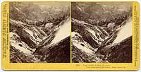 1573 - The Devil's Cañon, Geysers, View looking down the Cañon, Napa Co., Cal.