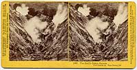 1585 - The Devil's Cañon, Geysers, view looking up, Sonoma County, Cal.