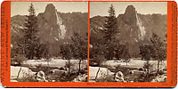 3016 - The Sentinel. Front View. 3270 feet. Yosemite Valley, Mariposa County, Cal.