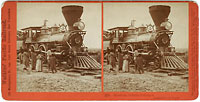 323 - Shoshone Indians, looking at Locomotive
