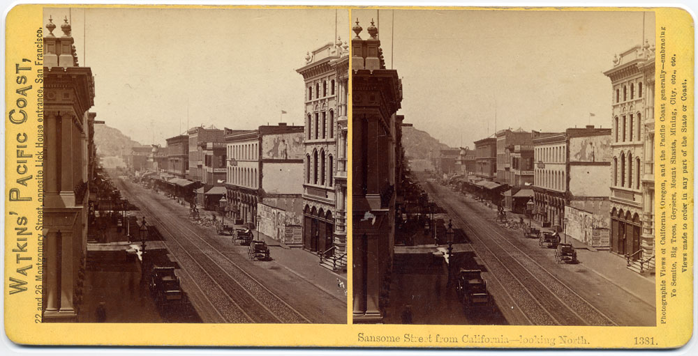 Watkins #1381 - Sansome Street from California, looking North
