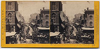 582 - Montgomery Street, from Market, July 4th, 1864, S.F.