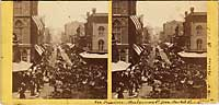 583 - Montgomery Street, from Market. July 4th, 1864.