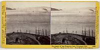 1342 - Panorama of San Francisco from Telegraph Hill (No. 5). View up the Bay. Red Rock in the distance.