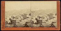 1348 - Panorama of San Francisco from Telegraph Hill (No. 11). Vallejo and Broadway Wharves.
