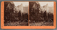 3005 - A glimpse of the Bridal Veil, Yosemite Valley, Mariposa County, Cal.